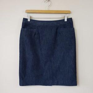 Halogen Dark Wash Denim Pencil Skirt